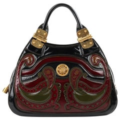 ALEXANDER McQUEEN Pre Fall 2009 Paisley Gold Hinge Turn lock Satchel Handbag