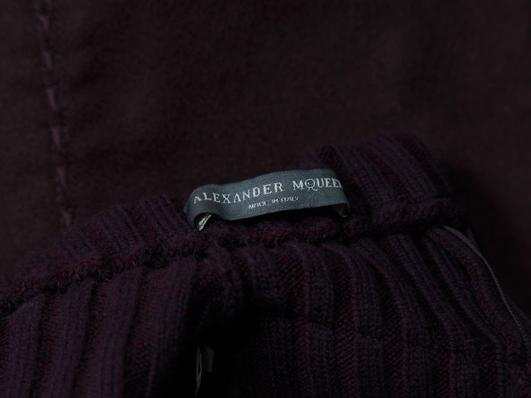 Alexander McQueen Purple Fall 2007 Ribbed Knit Dress In Good Condition For Sale In New York, NY