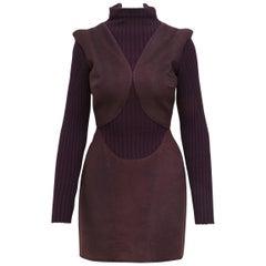 Alexander McQueen Purple Fall 2007 Ribbed Knit Dress