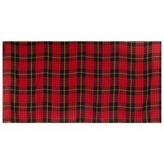 ALEXANDER MCQUEEN red black TARTAN cashmere Muffler Shawl Scarf
