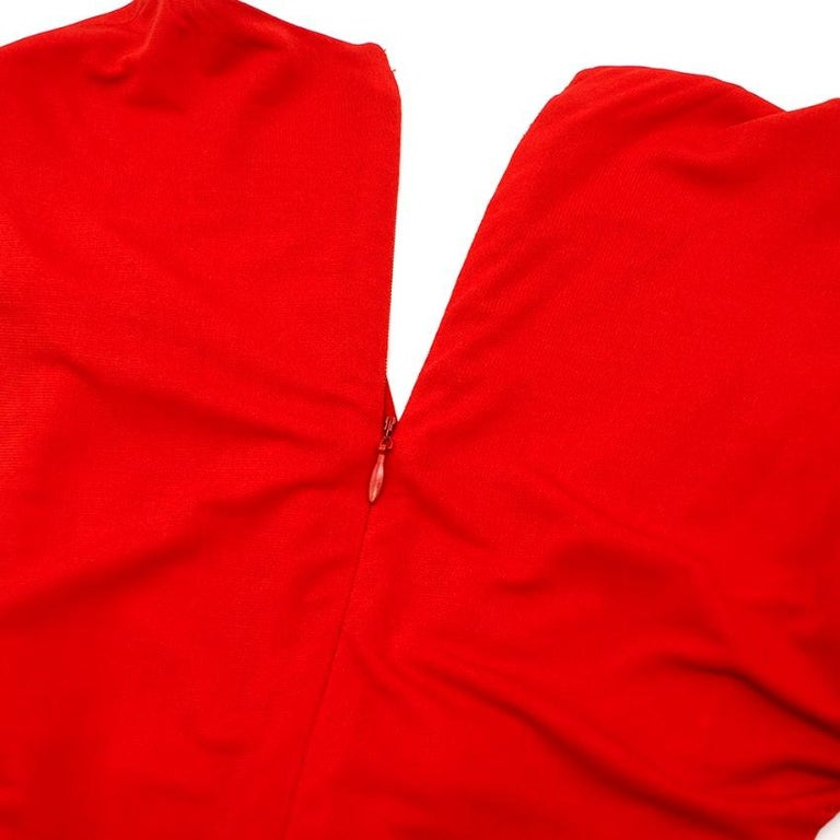 Women's Alexander McQueen Red Draped Sleeveless Gown XXS  For Sale