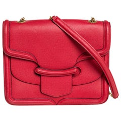 Alexander McQueen Red Leather Heroine Shoulder Bag