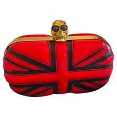 ALEXANDER MCQUEEN RED PATENT LEATHER CLUTCH Bag