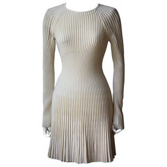 Alexander McQueen Ribbed-Knit Mini Dress
