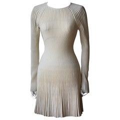 Alexander McQueen Ribbed-Knit Mini Dress