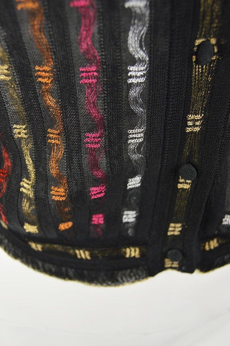 Alexander McQueen Ruffled Knit Black & Multicolored Lame Jacket, Pre Fall 2018 2