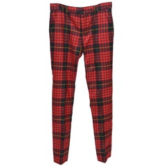 Alexander McQueen Runway 2006 Men Tartan Pants  Size 48  NEW