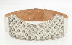 Alexander McQueen Runway Encrusted Pearls Rhombic Cathedral Arch Belt, Fall 2013