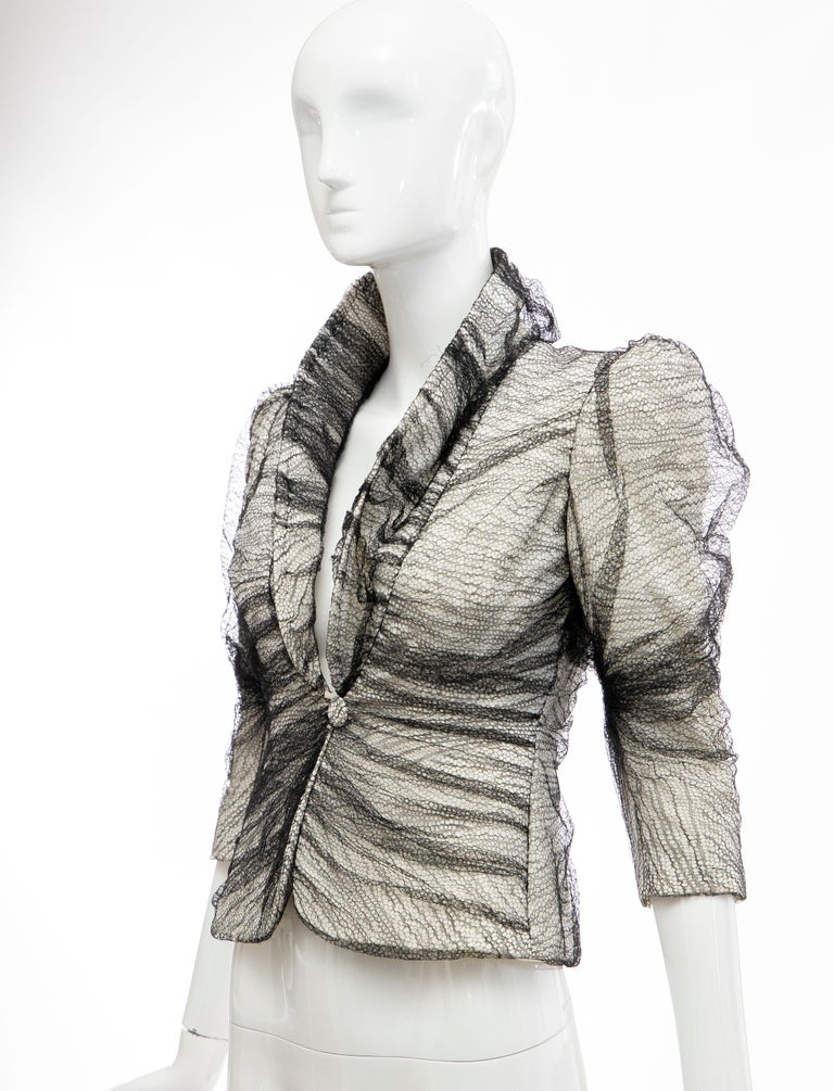 Alexander McQueen Runway Sarabande Collection Tulle Overlay Jacket, Spring 2007 For Sale 5
