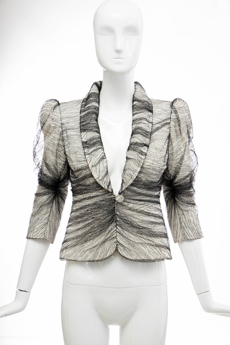 Alexander McQueen Runway Sarabande Collection Tulle Overlay Jacket, Spring 2007 For Sale 6