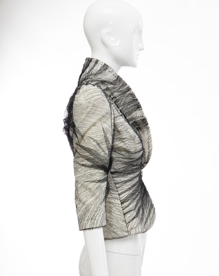 Women's Alexander McQueen Runway Sarabande Collection Tulle Overlay Jacket, Spring 2007 For Sale