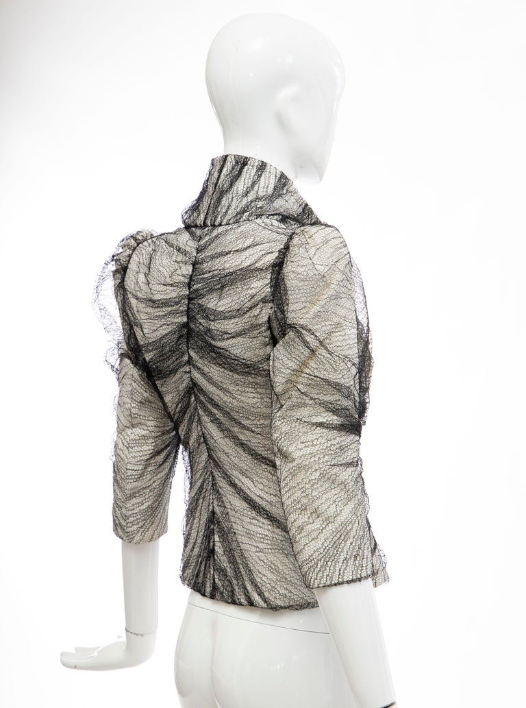 Alexander McQueen Runway Sarabande Collection Tulle Overlay Jacket, Spring 2007 For Sale 1