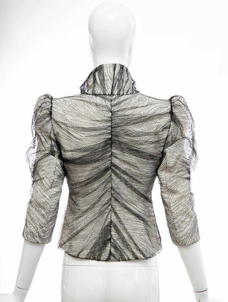 Alexander McQueen Runway Sarabande Collection Tulle Overlay Jacket, Spring 2007 For Sale 2