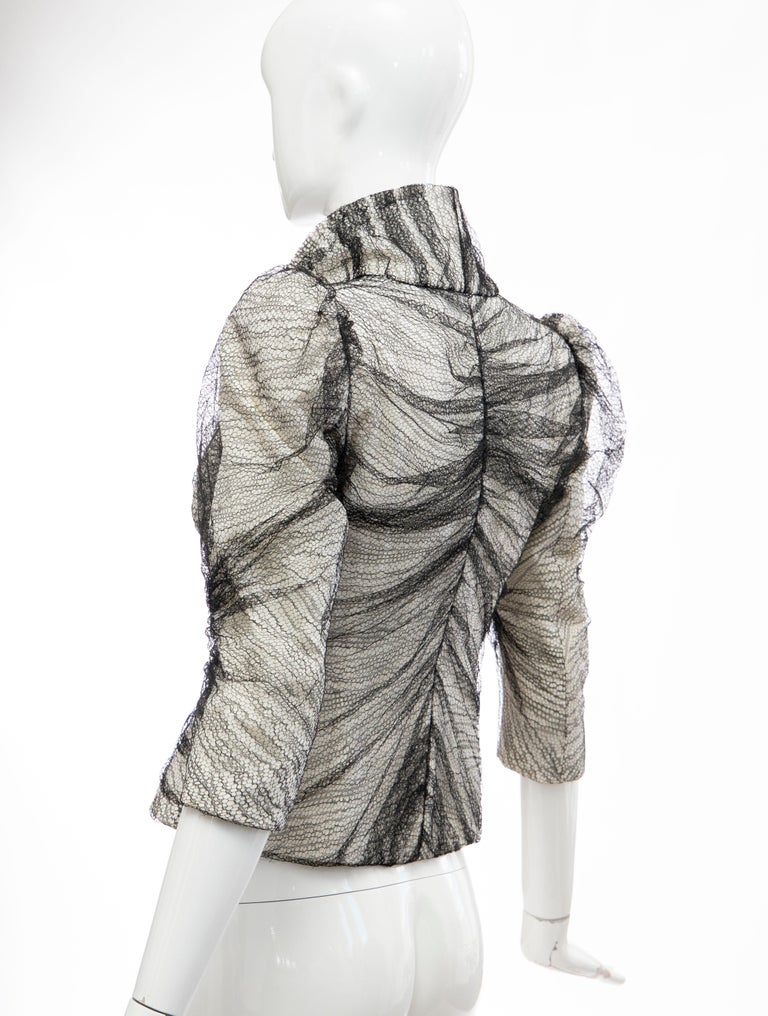 Alexander McQueen Runway Sarabande Collection Tulle Overlay Jacket, Spring 2007 For Sale 3