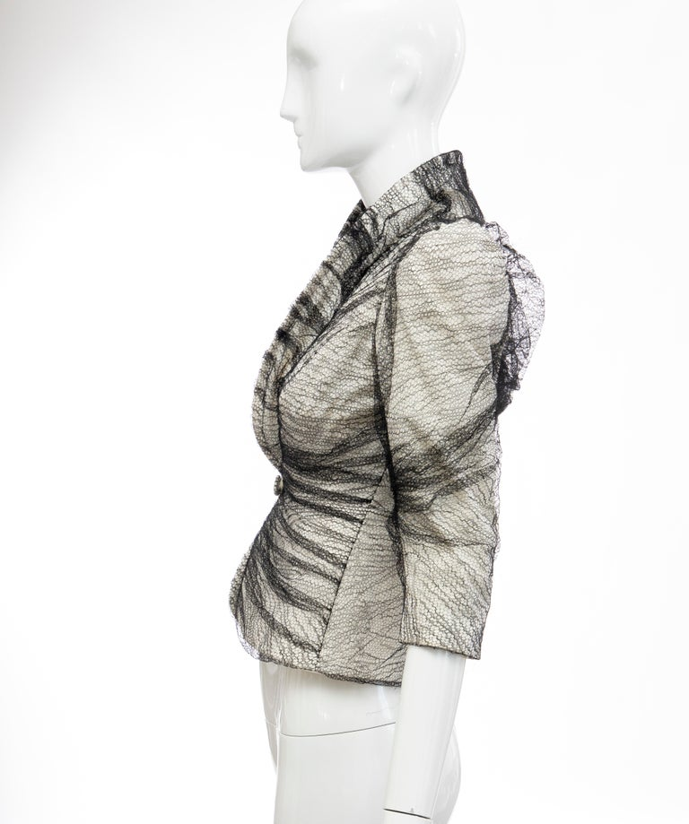 Alexander McQueen Runway Sarabande Collection Tulle Overlay Jacket, Spring 2007 For Sale 4