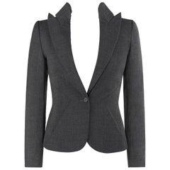 "ALEXANDER McQUEEN S/S 1996 ""The Hunger"" Gray Tailored Long Sleeve Blazer Jacket"