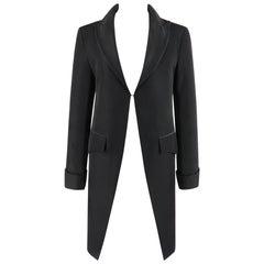 "ALEXANDER McQUEEN S/S 1997 ""La Poupee"" Black Single Closure Cutaway Dress Jacket"