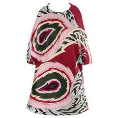 """ALEXANDER McQUEEN S/S 2001 """"Voss"""" Pink Paisley Print Silk Halter Top"""