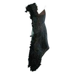 Alexander McQueen S/S 2001 'Voss' Runway Asymmetrical Gown Dress