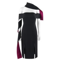 "ALEXANDER McQUEEN S/S 2001 ""Voss"" Strapless Dual Tone Arm Wrap Sash Dress"