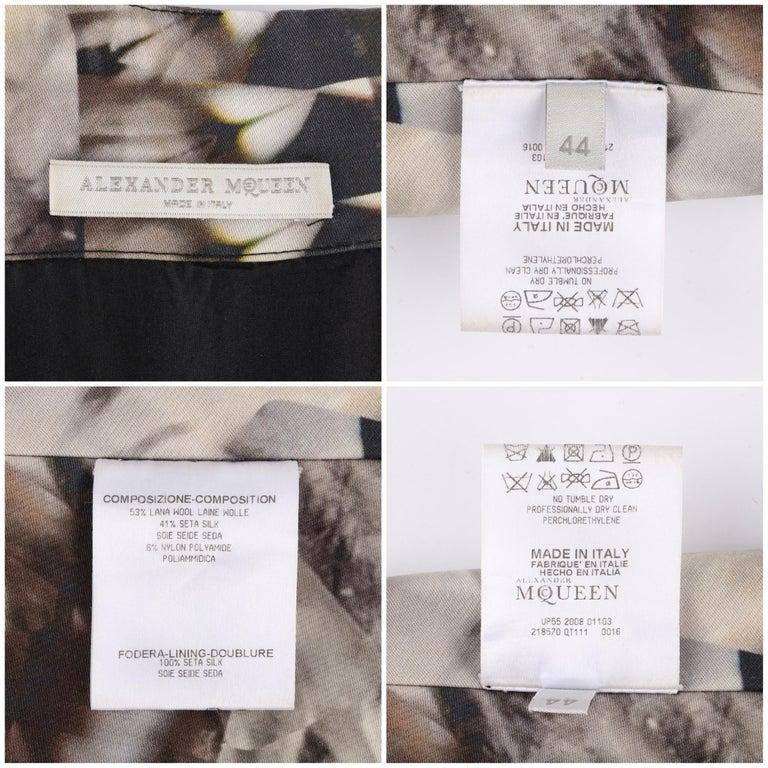 ALEXANDER McQUEEN S/S 2009 Iconic Runway Skeleton Kaleidoscope Print Dress 44  For Sale 4