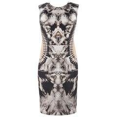 ALEXANDER McQUEEN S/S 2009 Iconic Runway Skeleton Kaleidoscope Print Dress 44