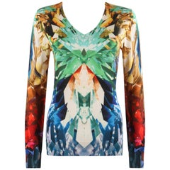 "ALEXANDER McQUEEN S/S 2009 ""Natural Dis-tinction"" Crystal Kaleidoscope Sweater"
