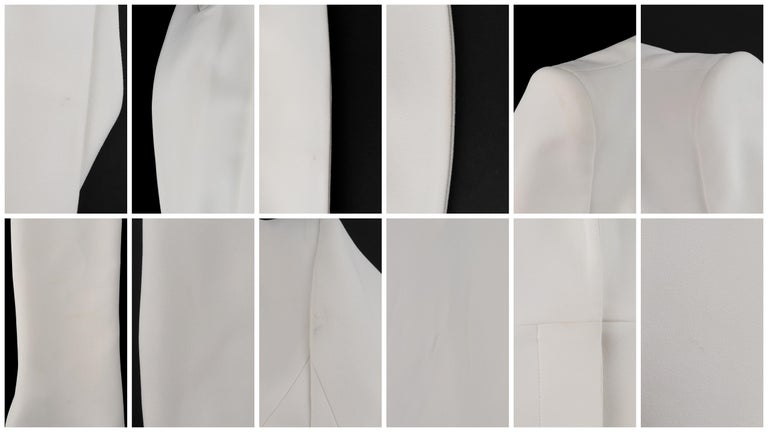 ALEXANDER McQUEEN S/S 2015 White Tailored Classic Structure Longline Coat Dress For Sale 6