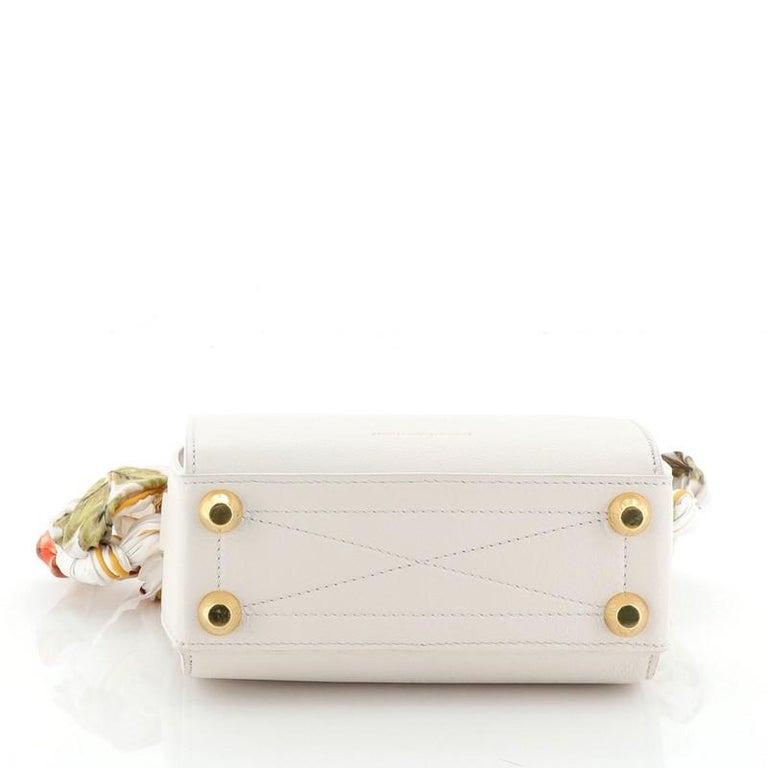 Alexander McQueen Scarf Box Shoulder Bag Leather 16  For Sale 1