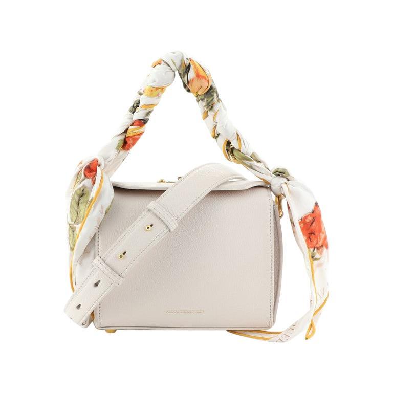 Alexander McQueen Scarf Box Shoulder Bag Leather 16  For Sale