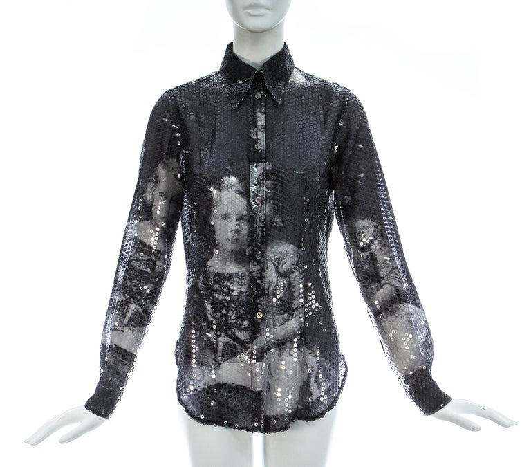 - Sequins with print of a portrait of the Romanov Princesses  - Button up fastenings  Autumn-Winter 1998