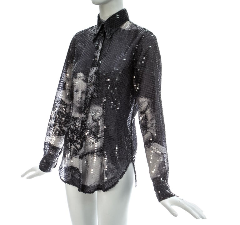 Alexander McQueen sequin 'Joan' blouse, A/W 1998 In Good Condition For Sale In London, GB