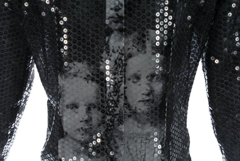 Women's Alexander McQueen sequin 'Joan' blouse, A/W 1998 For Sale