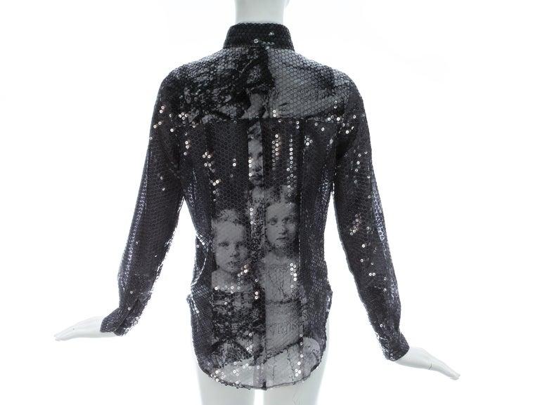 Alexander McQueen sequin 'Joan' blouse, A/W 1998 For Sale 1