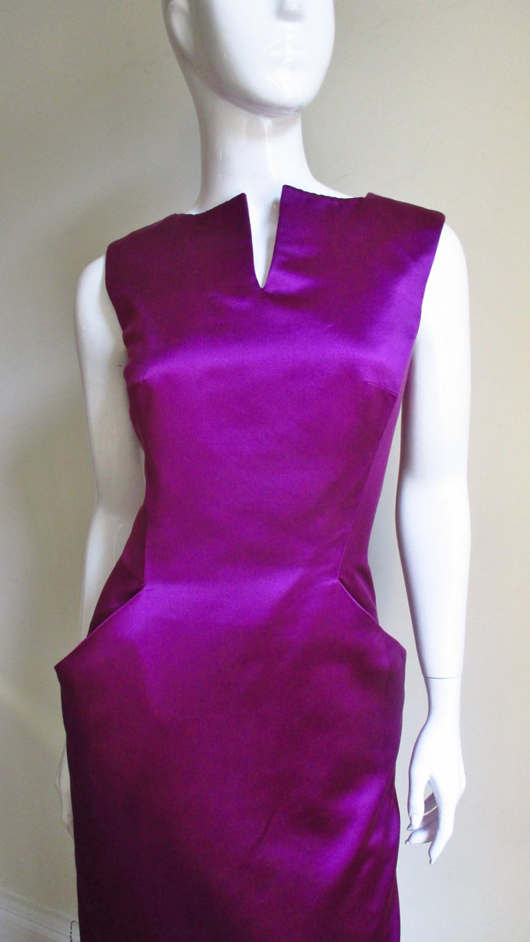 Alexander McQueen Silk Deep V Back Dress In Good Condition For Sale In New York, NY