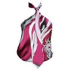 Alexander McQueen Silk Necktie Halter Top