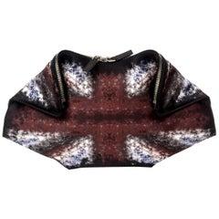 Alexander McQueen Silk Satin De Manta Clutch