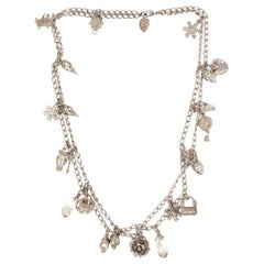 ALEXANDER MCQUEEN silver-plated CHARM Chain Necklace
