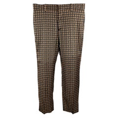 ALEXANDER MCQUEEN Size 30 Black Paisley Wool / Silk Zip Fly Casual Pants