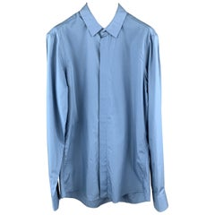 ALEXANDER MCQUEEN Size XS Blue Cotton Long Sleeve Shirt