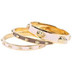 Alexander McQueen Skull 3 Pieces Bracelet