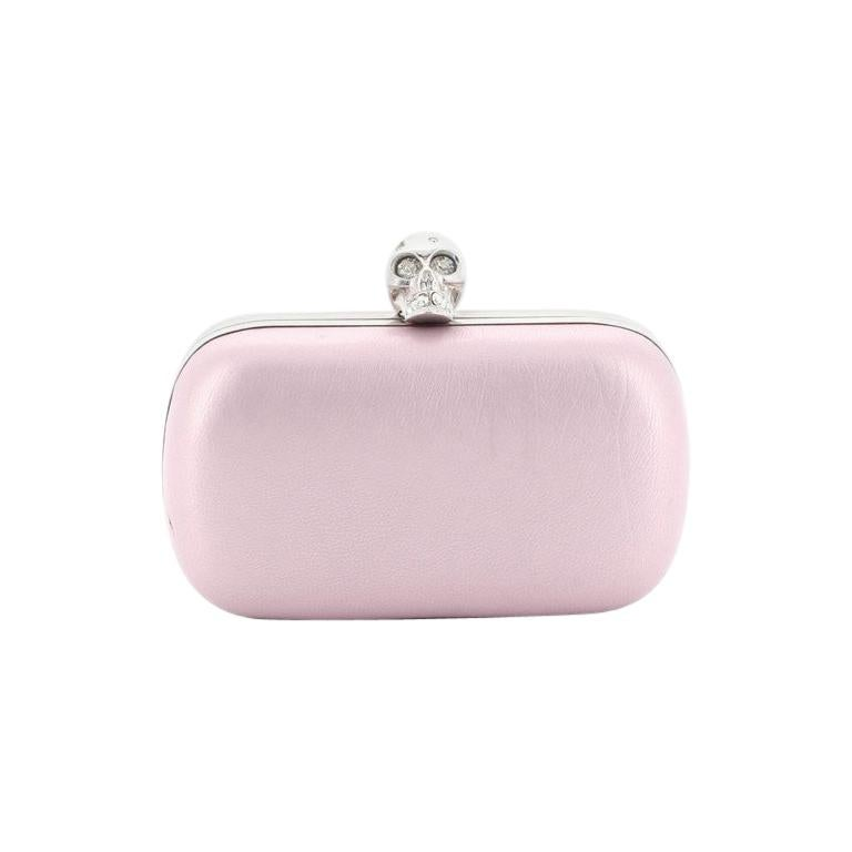 Alexander McQueen Skull Box Clutch Leather Small  For Sale