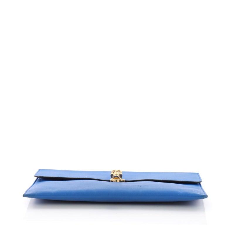 Women's Alexander McQueen Skull Envelope Clutch Leather For Sale