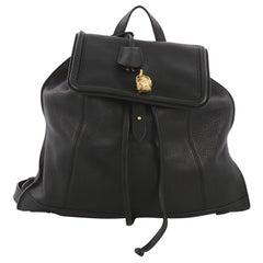 Alexander McQueen Skull Padlock Backpack Leather Large