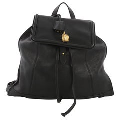 Alexander McQueen Skull Padlock Backpack Leather Large