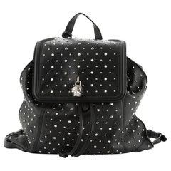 Alexander McQueen Skull Padlock Backpack Studded Leather Large