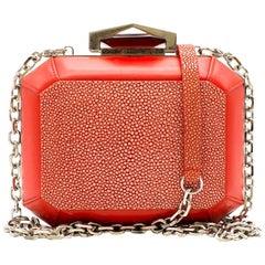 Alexander McQueen Stingray Box Clutch Bag