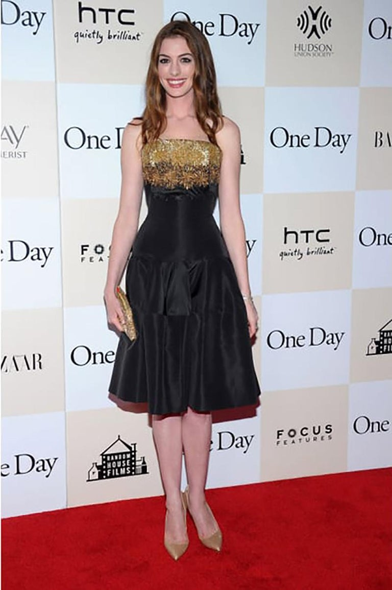 Alexander McQueen  Resort 2012  Embellished black dress  As seen on Anne  IT Size 40 - US 4  Excellent condition