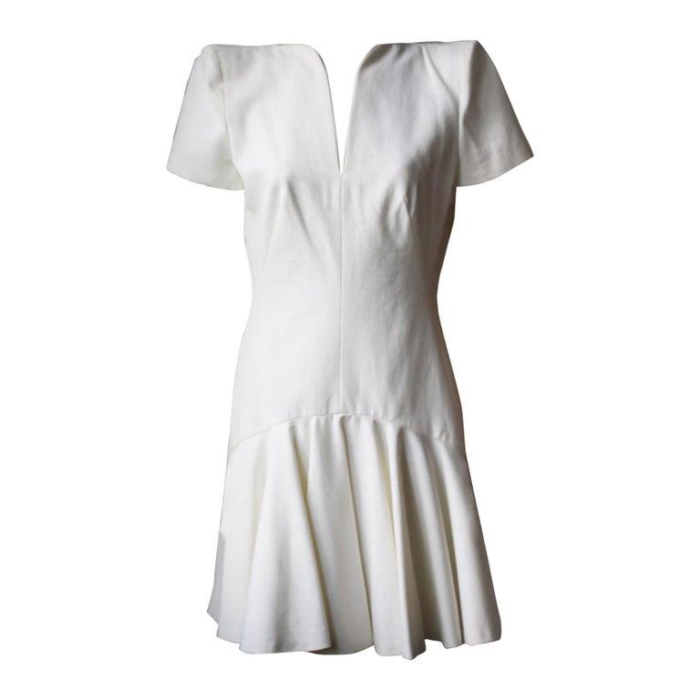 Alexander McQueen Structured-Shoulder Crepe Dress  For Sale