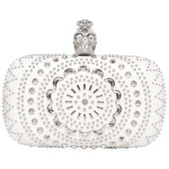 Alexander McQueen Studded Nappa Leather Skull Box Clutch